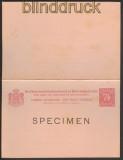 Niederländisch-Indien GSK SPECIMEN mit Antwortkarte ungebraucht (23697)