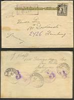 USA Mi # 277 EF Auslands-R-Brief 1924 (23705)