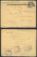 USA Mi # 236 EF Auslands-R-Brief 1922 (23706)