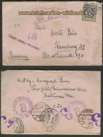 USA Mi # 236 EF Auslands-R-Brief 1924 (23708)