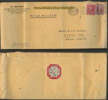 USA Mischfrankatur  Auslands-R-Brief 1934 (23710)