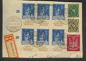 dt. Reich Mi # 233 als 6er-Block gestempelt (23722)