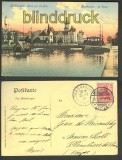 Mühlhausen farb-AK Blick auf die Post 1907 (d3866)