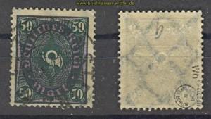 dt. Reich Mi # 209 W b gestempelt geprüft Infla (23802)