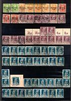 dt. Reich Mi # 119/130 Lot v 80 Plattenfehlern postfrisch / gestempelt (10606)