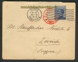 Italien Auslandsbrief Rom 29.11.1915 nach Zürich (23830)