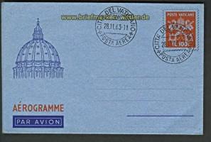Vatikan Luftpostumschlag Mi # 7 blanko gestempelt (23845)
