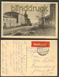 Monhofen Moncourt sw-AK Straße mit Kirche 1917 (d4081)