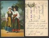 Trachten farb-AK Elsässerin + Lothringerin 1916 (d4090)