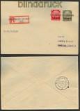 Elsaß Mi # 7 und 11 Not-Stempel Scherweiler 1940 (23914)