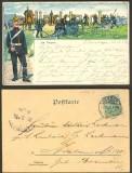 Artillerie im Feuer farb-Litho-AK Verden 1904 (d4107)