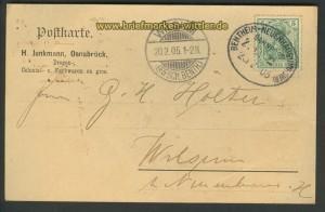 Bahnpost Bemntheim-Neuenhaus (Hannover) 1905 (23937)