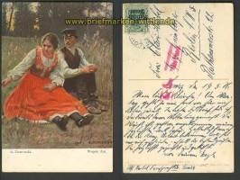 Künstlerkarte Lomza 19.5.1916 Zensur Posen  (23940)