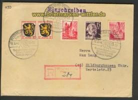 franz. Zone Allg. Ausgabe R-Brief Westerburg SSt. 1948 (23976)