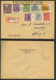 Bi-Zone 10fach-Frankatur MiF alte + neue Währung 22.6.1948 (23993)