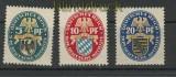 dt. Reich Mi # 375/77 postfrisch Nothilfe 1925 (24097)