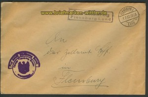 Neuholzkrug Flensburg Land Landpoststempel 1932 (24215)