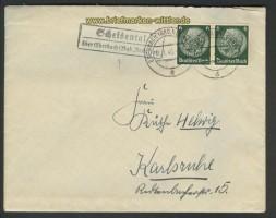 Scheidental über Eberbach Landpoststempel 1940 (24216)