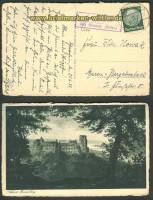 Schwanheim über Eberbach Landpoststempel 1933 (24219)