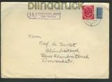 Hohenwehda Schloß über Hünfeld Landpoststempel 1952 (24228)