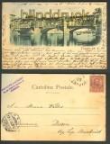 Firenze farb-AK Ponte Vecchio rifondato nel 1355 1899 (a0761)