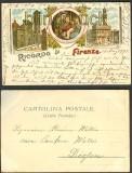 Firenze farb-Litho-AK Ricordo di Frienze 1897 (a0775)