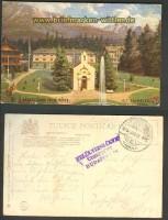 Alt Schmecks Hohe Tatra farb-AK Ó-Tátrafüred Felso Része 1918 (a0788)