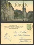 Diekirch farb-AK Strassenansicht mit Kirche 1911 (a0797)