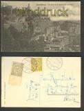 Luxemburg sw-AK Vue prise de la caserne des volontaires 1910 (a0803)