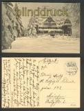 Ilmenau sw-AK Kurhaus Gabelbach im Winter Feldpost 1916 (d4217)