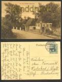 An der Brücke Oeversee sw-AK Flensburg 1912 (d4246)