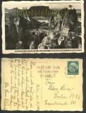 Bastei-Brücke mit Lilienstein sw-Foto-AK sächs. Schweiz 1934 (d4256)