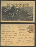 Ahrtal sw-AK Burgruine und weißes Kreuz 1922 (d4284)