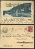 Ems sw-AK Kurhaus von der Bogenbrücke Bahnpost 1900 (d4283)