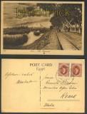 Ägypten Cairo Pyramiden sw-AK mit Bahnstrecke 1925 (a0812)