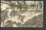 Der Kampf der Deutschen in Reims sw-AK ungerbaucht (d4305)