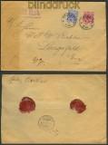 dt. Reich Wertbrief Mi # 47 + 48 Chemnitz 1899 (24307)