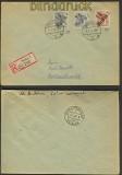 SBZ 2 x Mi # 170 II + A 179 II  Bezirkshandstempel R-Brief (24327)
