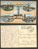 Büsum Nordseebad farb-AK 5 Ansichten 1916 (d4314)
