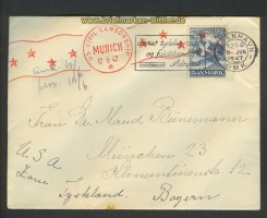 Dänemark Auslands-Zenaur-Brief 1947 Riemer A-27 (24564)