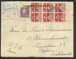 Dänemark Auslands-Zenaur-Brief 1947 Riemer A-27 (24565)