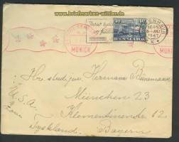 Dänemark Auslands-Zenaur-Brief 1947 Riemer A-28 (24576)