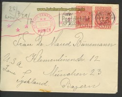 Dänemark Auslands-Zenaur-Brief 1947 Riemer A-28 (24578)