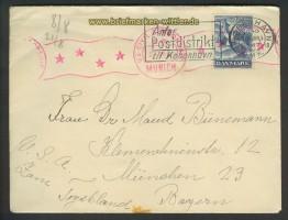 Dänemark Auslands-Zenaur-Brief 1947 Riemer A-28 (24584)