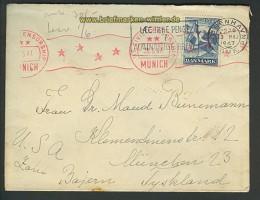 Dänemark Auslands-Zenaur-Brief 1947 Riemer A-28 (24585)