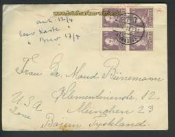 Dänemark Auslands-Zenaur-Brief 1947 (24586)