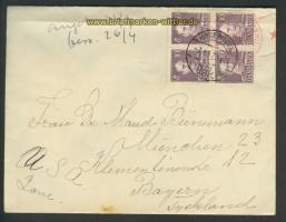 Dänemark Auslands-Zenaur-Brief 1947 Riemer A-27 (24587)