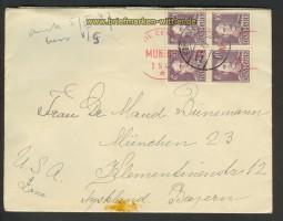 Dänemark Auslands-Zenaur-Brief 1947 Riemer A-27 (24588)