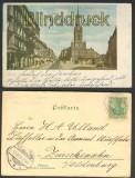 Berlin farb-AK Jeursalemkirch + Jerusalemerstr. 1903 (d4328)