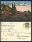 Aus der Heide farb-AK Bahnpost Oldenburg-Osnabrück 1925 (d4373)